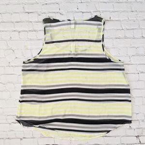 torrid Tops - Torrid Sleeveless Sheer Striped Black Tank